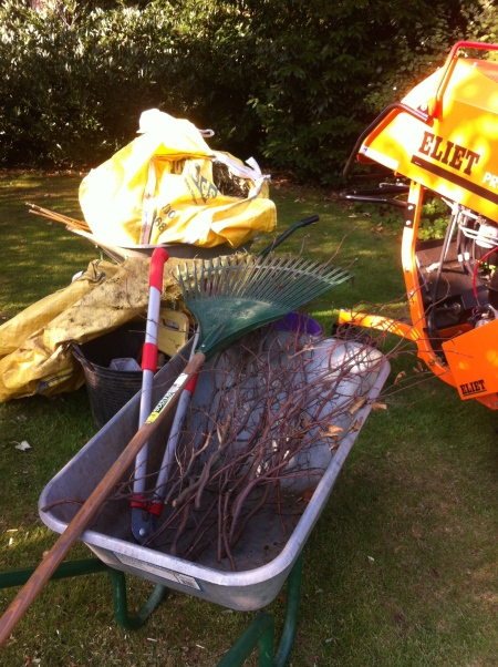Gardening in October time to clean, tidy and prepare for winter