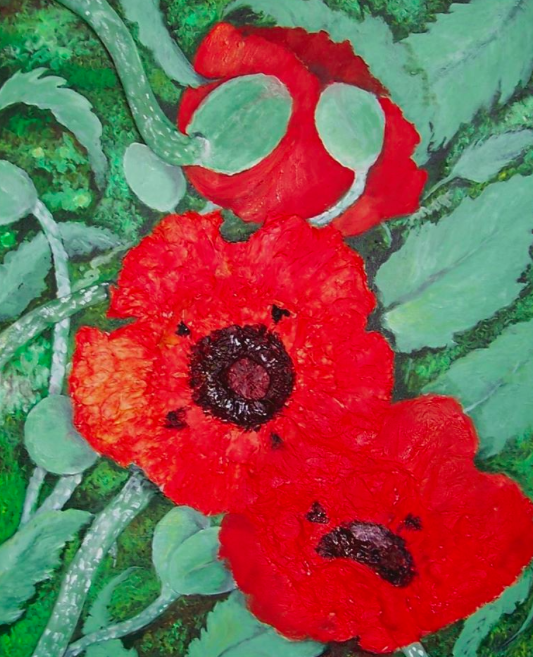 Raised Poppies
