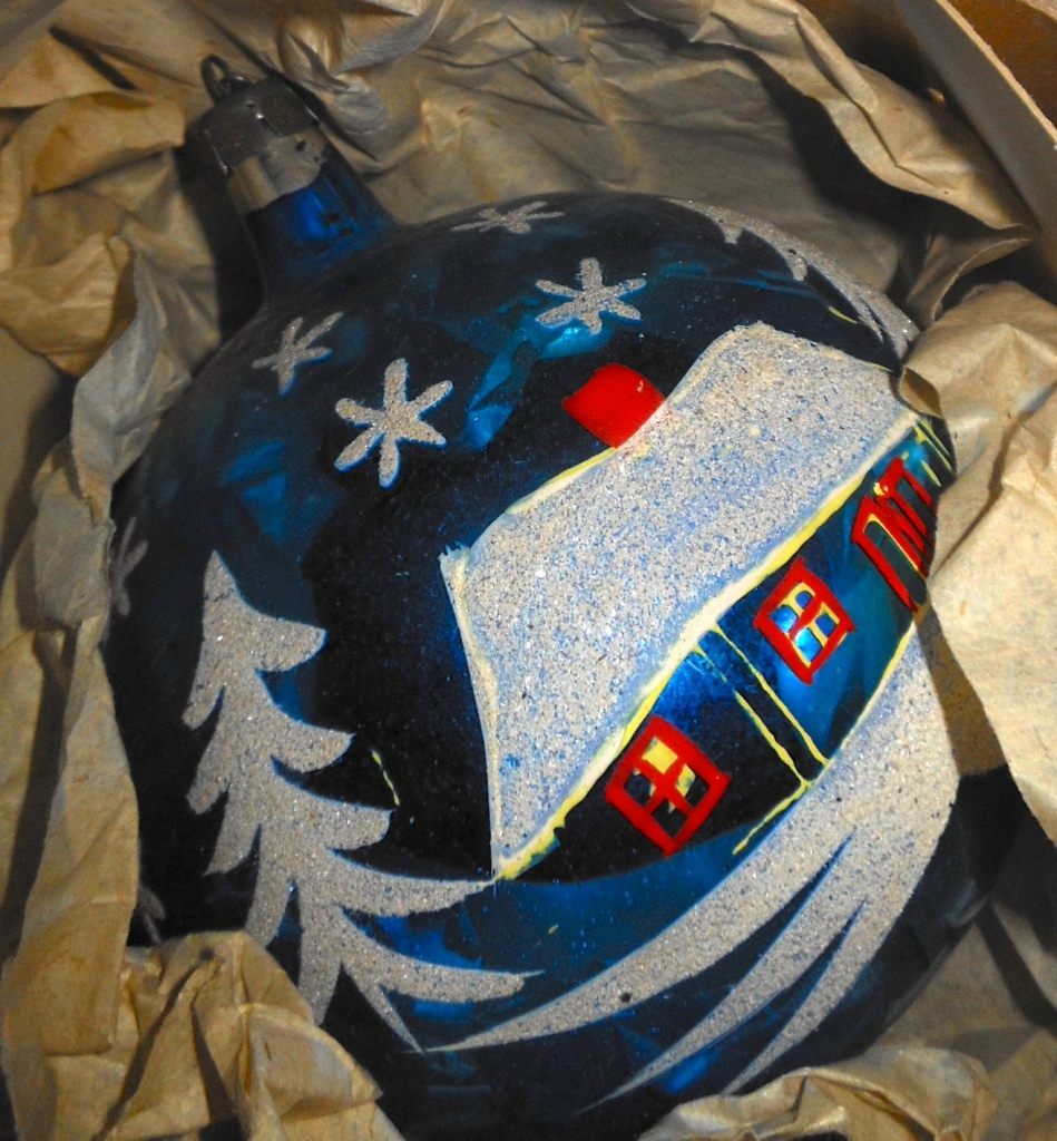 hand painted christmas decorations