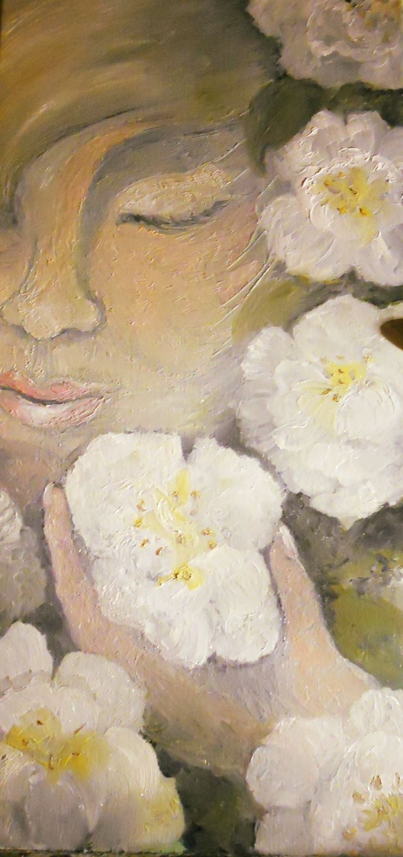 camellia in dappled shade a journey in oils by pammy