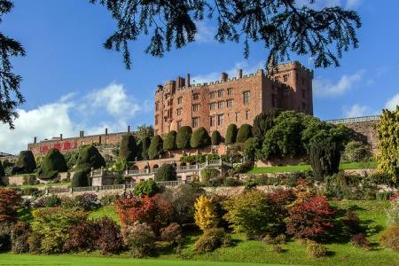 powis castle gardens view